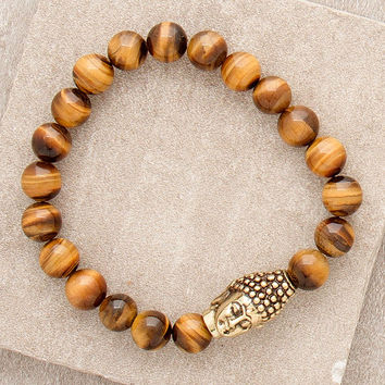 Tigers Eye Buddha Bracelet