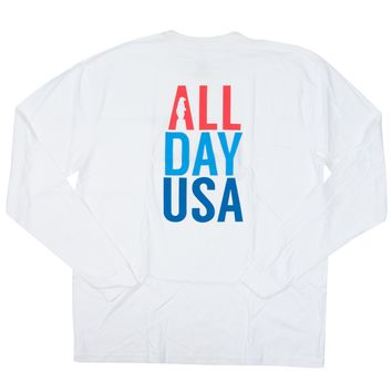 All Day USA Long Sleeve T-Shirt