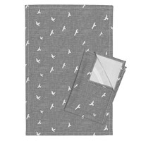 Orpington Tea Towels featuring Birds Texture - Gray by kimsa