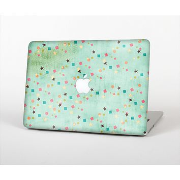 The Vintage Green Shapes Skin Set for the Apple MacBook Air 11""