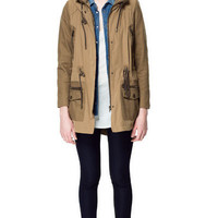 PARKA WITH COLLAR ENCLOSURE - Coats - Woman - ZARA United States