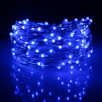 49Ft 15m 150LED Silver Wires Led Fairy Lights Chrismas Halloween String Lights Decoration Party +12V1A Adapter(EU,UK,US,AU Plug)