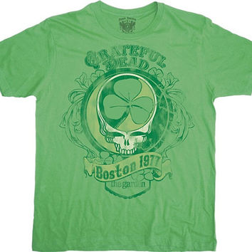 Grateful Dead Distressed Boston Garden Short Sleeve Shirt  Sizes Small Medium  Large   St. Patricks Day