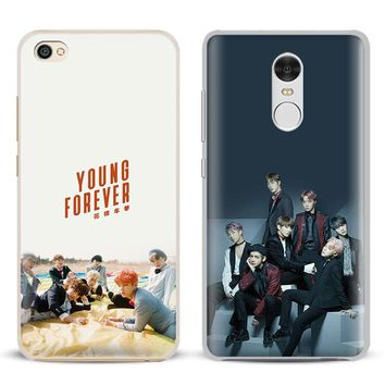 BTS Bangtan Boys KPOP Boy band Phone Case Shell Cover For Xiaomi Redmi Note 4 4X 5A 6 6A PRO Mi 8 5 5S PLUS Max A1 Note 2 3