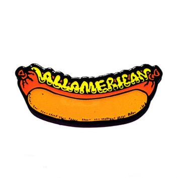 All American Hot Dog Lapel Pin