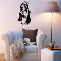 Lhasa Apso Dog Puppy Breed Pet Animal Family Wall Sticker Decal Mural 2811