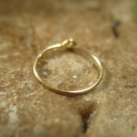 Super Thin Gold Nose Ring with Hook