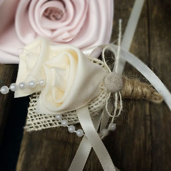 Mother of the Bride Corsage, Corsage, Burlap Corsage ,Wedding, Rustic Corsage, Burlap, Wedding, Mother of the Bride, Mother of the  Groom