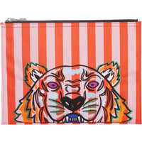 KENZO Kanvas Tiger Embroidered Stripe A4 Pouch | Nordstrom