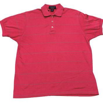 Vintage 90s Pink Gant Rugger Polo Shirt Made in USA Mens Size Small