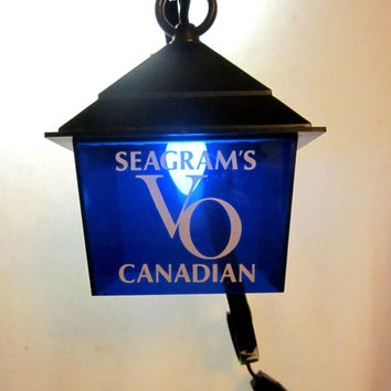 Seagrams VO Canadian Bar Light Man Cave Retro Bar Ware Vintage Whiskey Accent Lighting
