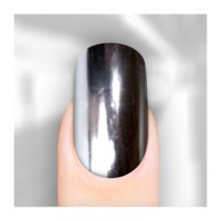 Rebel Nails Nail Wraps - Bright Mirror Silver for Fingers