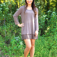 Making it Look Easy top/dress - Brown