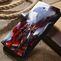 Davion The Dragon Knight Dota 2 Custom Wallet iPhone 4/4s 5 5s 5c 6 6plus 7 and Samsung Galaxy s3 s4 s5 s6 s7 case