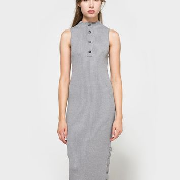 C/MEO COLLECTIVE / Life is Real Dress in Grey