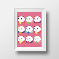 Puppycats Printable Wall Art (Bee and Puppycat)