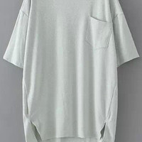Grey Pocket Short Sleeve T-Shirt