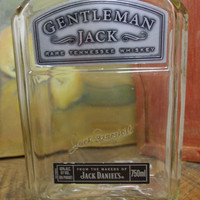 20 Ounce Pure Soy Candle in Reclaimed Gentleman Jack Liquor Bottle -  Your Choice of Scent