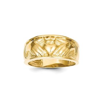 Claddagh Ring in 14k Yellow Gold - 11 Mm