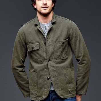 Gap Men Garment Dyed Twill Work Jacket