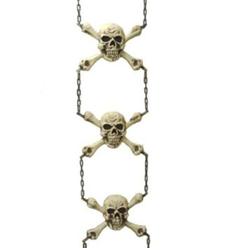 ONETOW 56' Gruesome Skeleton Chain Hanging Halloween Decoration #65858