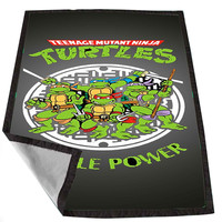Teenage Mutant Ninja Turtles Hero 5c60fa0a-069d-4b55-b83f-5f75f08292e6 for Kids Blanket, Fleece Blanket Cute and Awesome Blanket for your bedding, Blanket fleece *02*