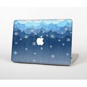 The Snowy Blue Paper Scene Skin Set for the Apple MacBook Air 11""