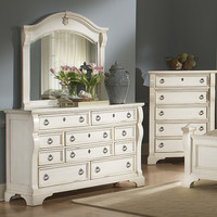 American Woodcrafters Heirloom 10 Drawer Dresser with Mirror