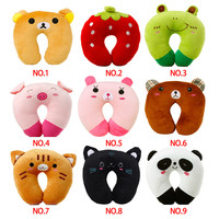 HOT Office noon break U-shaped Plush Pillow cute Travel Pillow Cartoon Animal Car Headrest 8 styles Doll