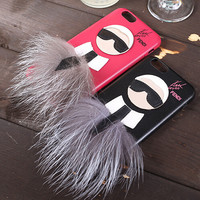 New hot sale Fend Karlito The 2nd case Lafayette cover for iphone 5 6 6plus Mr KarlLagerfeld Fur Skin for apple iphone Free ship
