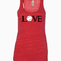 Baseball Love Alternative - Ladies' Meegs Eco-Jersey Racerback Tank