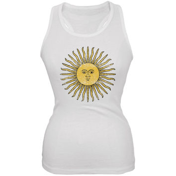 World Cup Argentina Sun of May White Soccer Juniors Tank Top