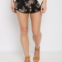 Black Floral Super Soft Envelope Short | Active Shorts | rue21