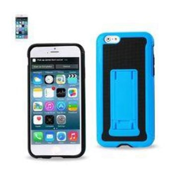 REIKO IPHONE 6 HYBRID HEAVY DUTY CASE WITH VERTICAL KICKSTAND IN BLACK NAVY