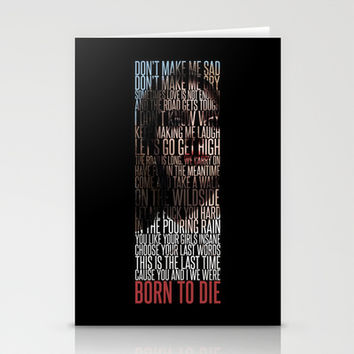 Born To Die by Del Rey Lana Stationery Cards by Marvin Fly
