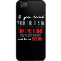 One Direction: Kiss You Lyrics iPhone Case