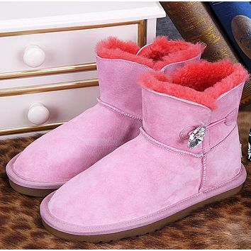 UGG Women Fashion Fur Winter Snow Boots Short Boots Shoes