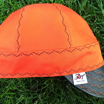 Harley Davidson Inspired Canvas cap w/Leather bill