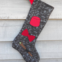 Doctor Who 11th Doctor Christmas Stocking, Fez bowtie and sonic screwdriver FREE SHIPPING
