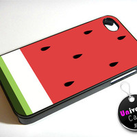 Watermelon Fruit Art iPhone 4S Case Hard Plastic