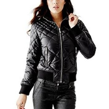 Salima Belted Puffer Jacket | GUESS.com