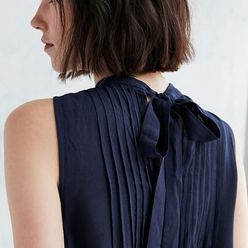 Cooperative Pintucked Tie-Back Tank Top - Urban Outfitters