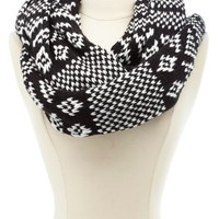 Aztec Infinity Scarf by Charlotte Russe - Black Combo