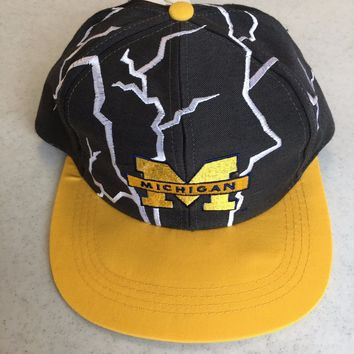YOUTH MICHIGAN WOLVERINES GO BLUE YOUTH MULTICOLOR FLAT BRIM SNAPBACK HAT