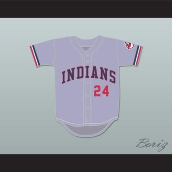 Roger Dorn 24 Gray Baseball Jersey Major League