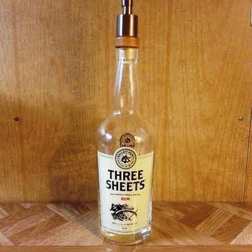 Three Sheets Rum Soap Dispenser- Ballast Point - Man Cave- Made from Recycled Bottles