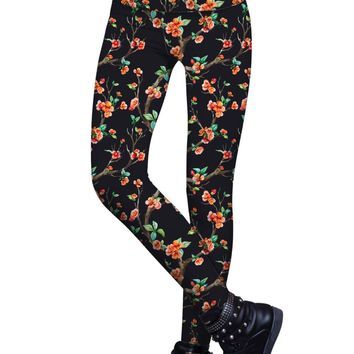 In The Night Lucy Floral Print Performance Leggings - Women