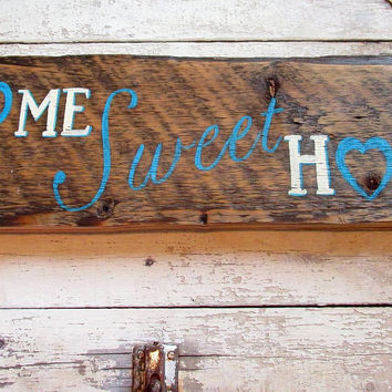 Wall Decorations for Living Room, Wood Signs Sayings, Home Sweet Home