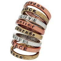 Mix Word Ring Set - Rings - Jewelry  - Accessories