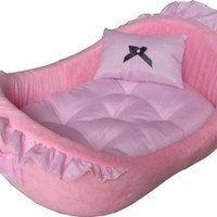 HDP Pet Pink Bassinet Bed with Removable Pillow